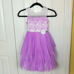 4/$25 Jona Michelle purple lace and tulle dress